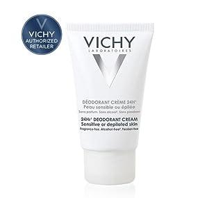 Amazon.com: Vichy 24-Hour Deodorant Cream for Sensitive Skin, 1.35 ...