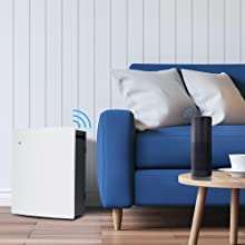 smart air purifier, alexa compatible air purifier, connected air purifier, IFTTT air purifier, smart