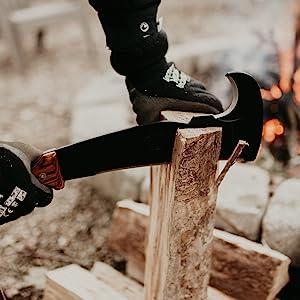 woodman's pal machete axe fire starter kindling chop blaze cut firewood axe