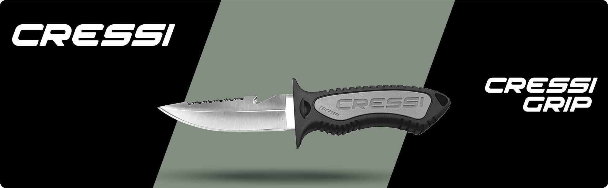 Cressi Grip Knife Cuchillo, Blanco, Talla Única