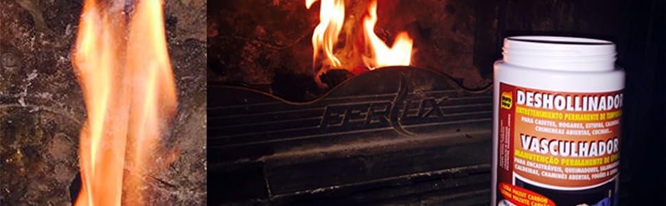 Deshollinador para chimeneas, estufas, calderas, cocinas