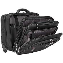 Rolling, Designer, Carry On, Suitcase, Professional, Portfolio, Polyester, Tablet, Bag, Laptop Case