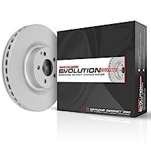 power stop, coated rotors, brake kit, brake pads, brake rotors, brakes, kit, Z17 coated rotors, rear