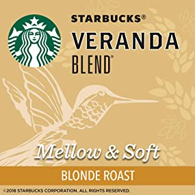 Starbucks Veranda Blend - Blonde roasted coffee: mellow & soft whole bean coffee