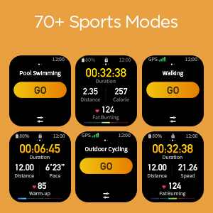 70+ Sports Modes