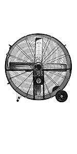 """black fan; utility fan;high velocity fan 20"""""""