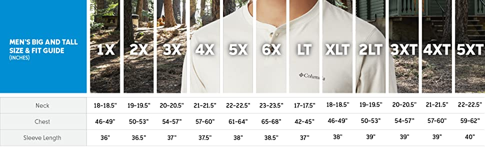 Men's shirt big and tall size and fit guide