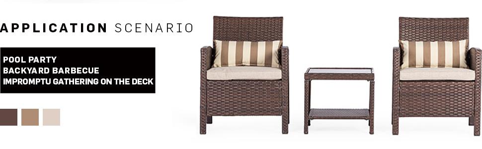 Amazon.com: Solaura - Muebles de exterior (2 – 3 piezas ...