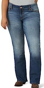 Wrangler Retro Mae Mid Rise Plus Boot Cut Jean