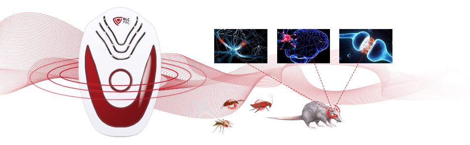 Moscas 2 Piezas Hormigas Insectos Pulgas BLCPRO Repelente Ultras/ónico de Plagas 2020 Repelente Ultras/ónico Mosquitos 4 Modos para Conducir con Precisi/ón Ratas y Ratones Cucarachas