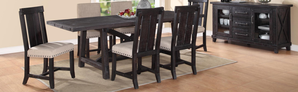 Modus Furniture 7YC966W Yosemite Solid Wood Dining Chair Set Of 2 Caf