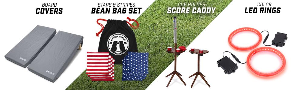 gosports cornhole bean bag toss boards game set lawn yard game kids tailgating sports fan regulation