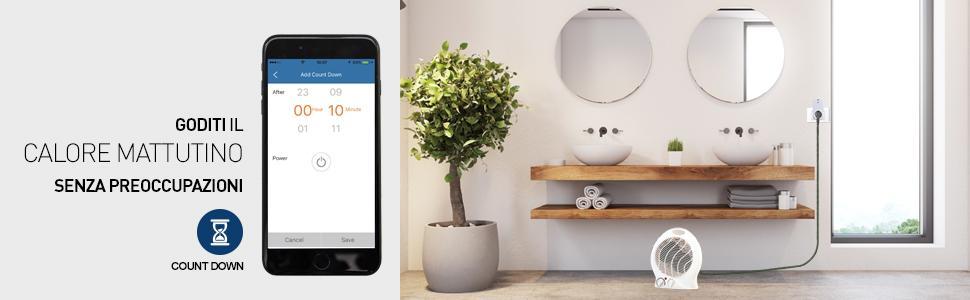 wifi smart kit; smart home; casa intelligente; count down; funzione count down