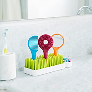 Boon Spiff Baby//Toddler Grooming Kit w// Brush//Comb//Mirror Caddy Holder Kids Set