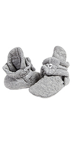 Unisex Baby Booties Organic Cotton Adjustable Infant Shoes Burts Bees Baby