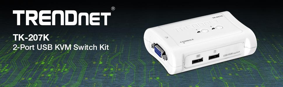 Amazon.com: TRENDnet 2-Port USB KVM Switch and Cable Kit, Device