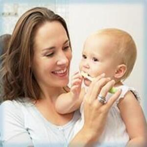 Brush teeth for your baby