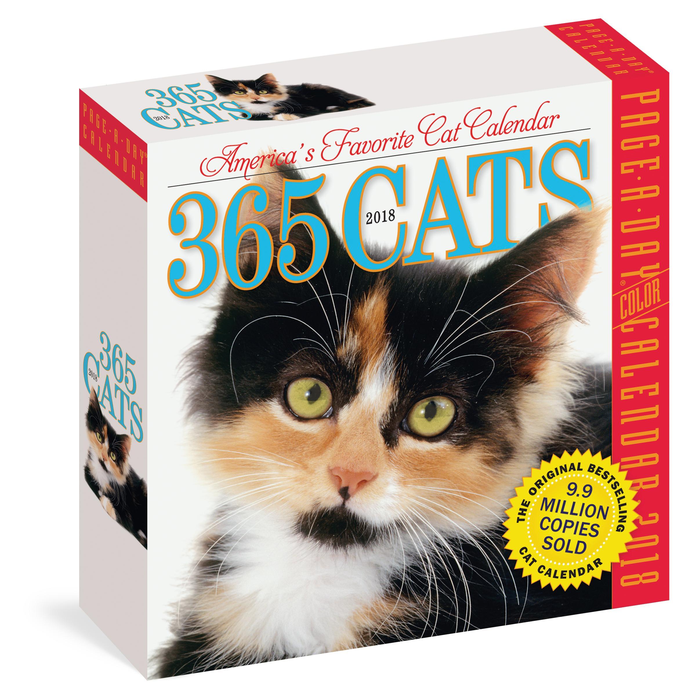 Amazon.com: 365 Cats Page-A-Day Calendar 2018