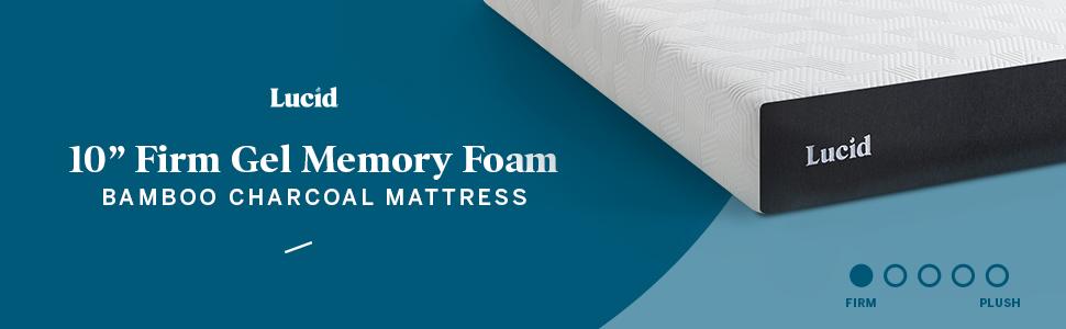 lucid10 inch memory foam mattress bamboo charcoal mattress