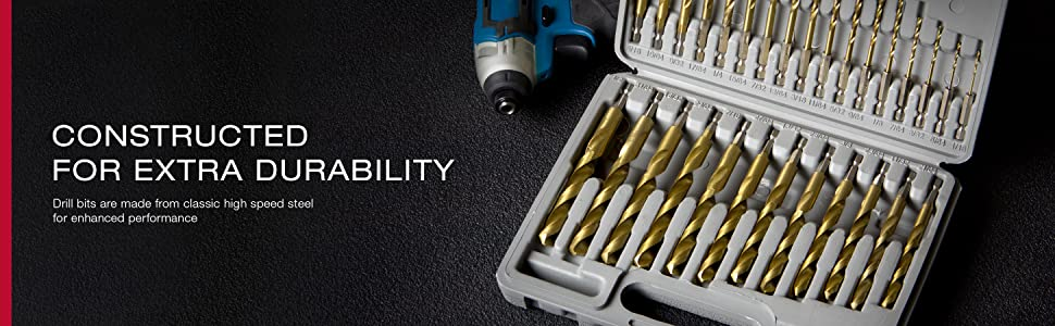 drill bit set with case