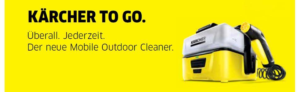 k rcher mobile outdoor cleaner oc 3 mit lithium ionen akku und wassertank amazon. Black Bedroom Furniture Sets. Home Design Ideas