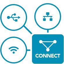robust printer connectivity, ethernet, bluetooth, wifi, epson printer