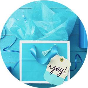 gift bags, wrapping paper, gift bag with tissue paper