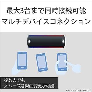 最大3台まで同時接続可能。複数人でもスムーズな楽曲変更ができます。