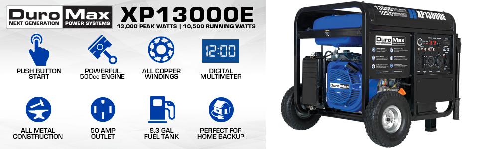 Duromax XP13000E Portable Home backup Gas Powered Generator