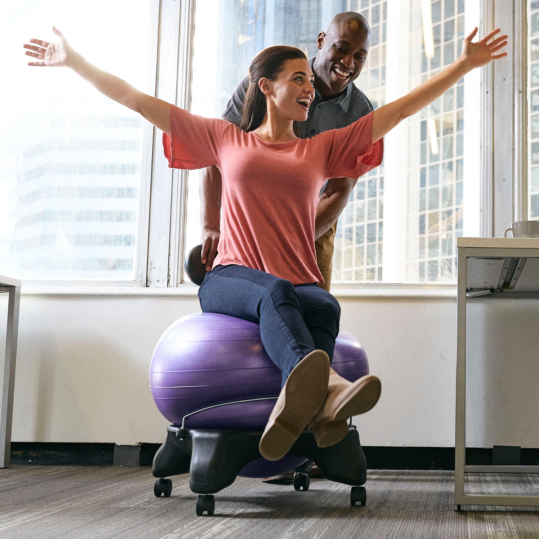Amazon Com Gaiam Balance Ball Chair Exercise Stability