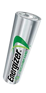 Energizer Recharge Power Plus, AA, AAA, NIMH, 5 year shelf life, recycled, batteries, frequent use
