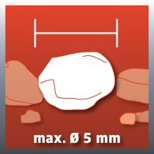 Particules : jusqu'à Ø5 mm