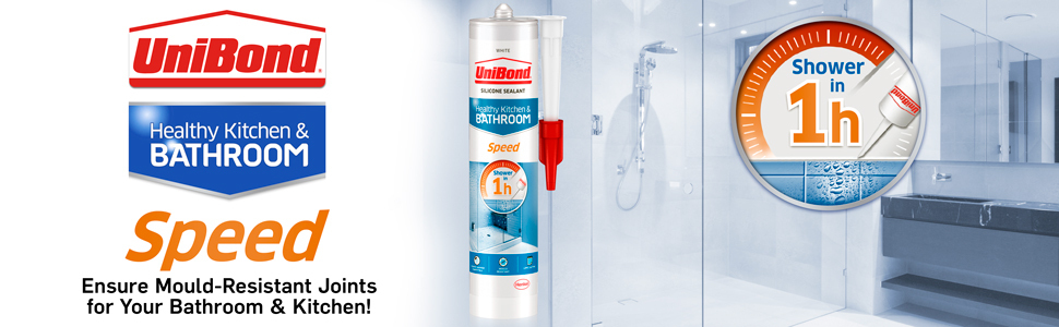 unibond speed seal sealant mould resistance bathroom kitchen 1 hour