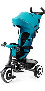 Kinderkraft Triciclo Plegable AVEO, Asiento Giratorio, Hasta 5 ...
