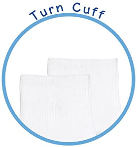 turn cuff fold over sock