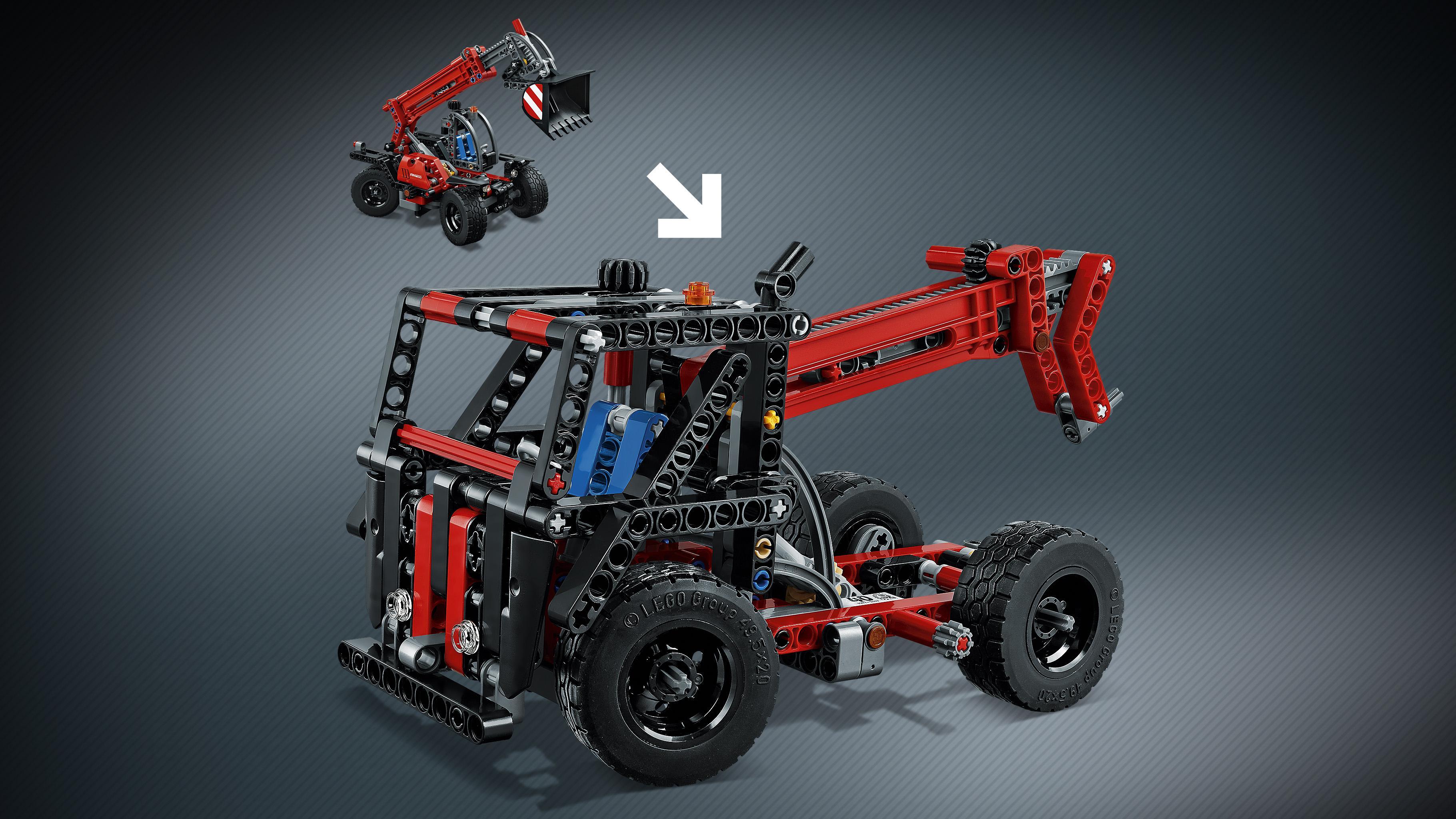 lego technic 42061 teleskoplader spielzeug. Black Bedroom Furniture Sets. Home Design Ideas