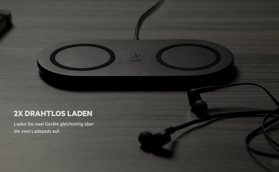 Belkin Drahtloses Boost Charge Ladegerät Mit Zwei Elektronik