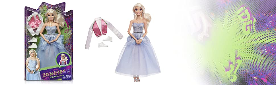 Addison Prom Doll Zombies Disney's 2 Wearing Blue Gown and... 11.5-inch