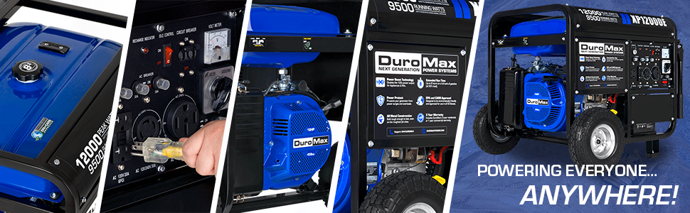 Duromax XP12000E Gas Poweredl Portable 12000 Watt Generator