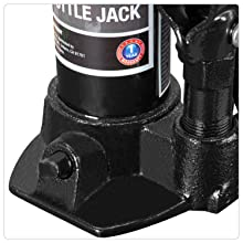 Torin Hydraulic Welded Bottle Jack with Blow Mold Carrying Storage Case, 2 Ton (4,000 lb) Capacity