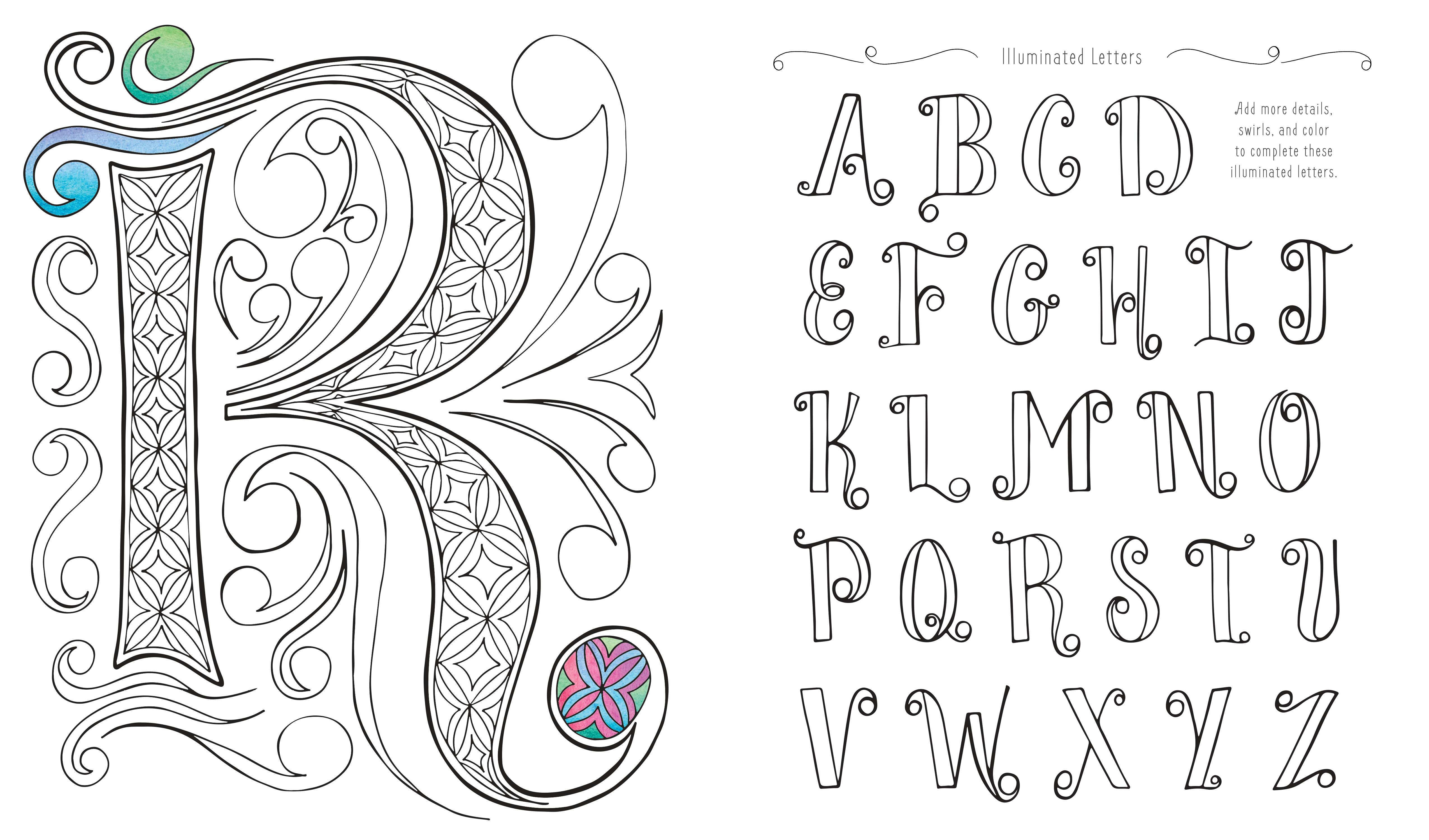 Draw Color And Sticker Creative Lettering Sketchbook An