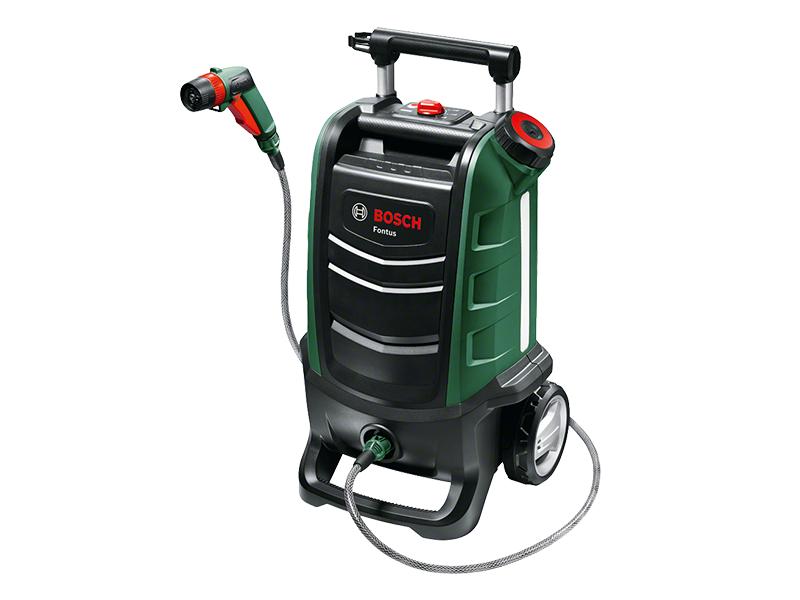 Bosch hidrolimpiadora de exteriores de una batería Fontus, sistema de 18 V, presión máxima de 15 bar, depósito de agua de 15 l, en caja