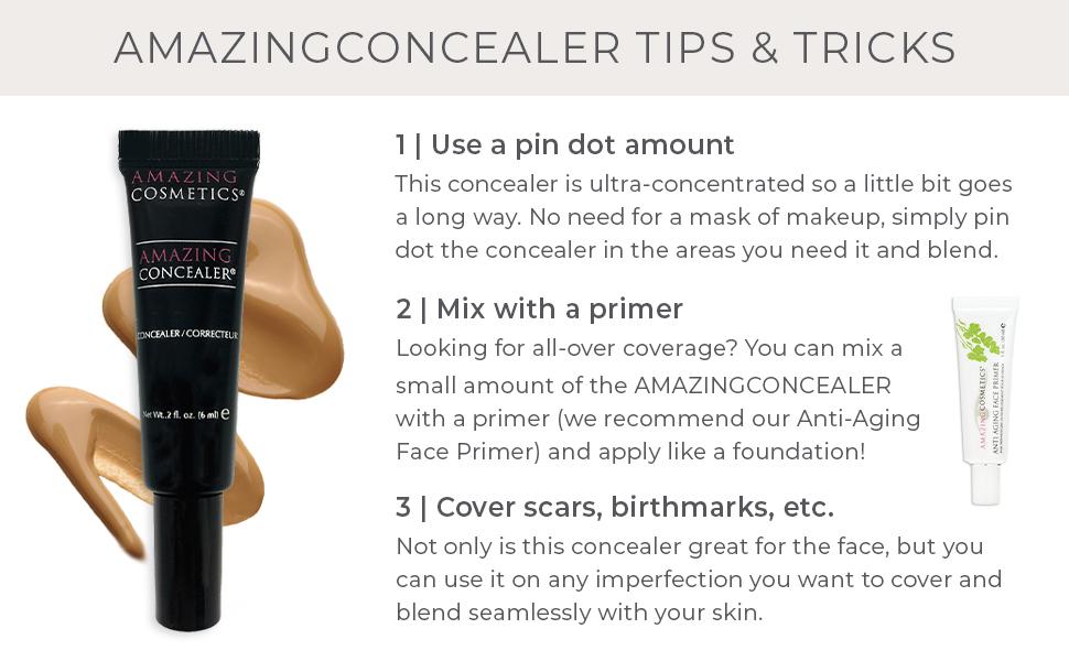 amazing concealer,face primer,undereye concealer,full coverage concealer,concealer makeup