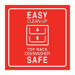 Easy Clean-up, Top Rack Dishwasher Safe