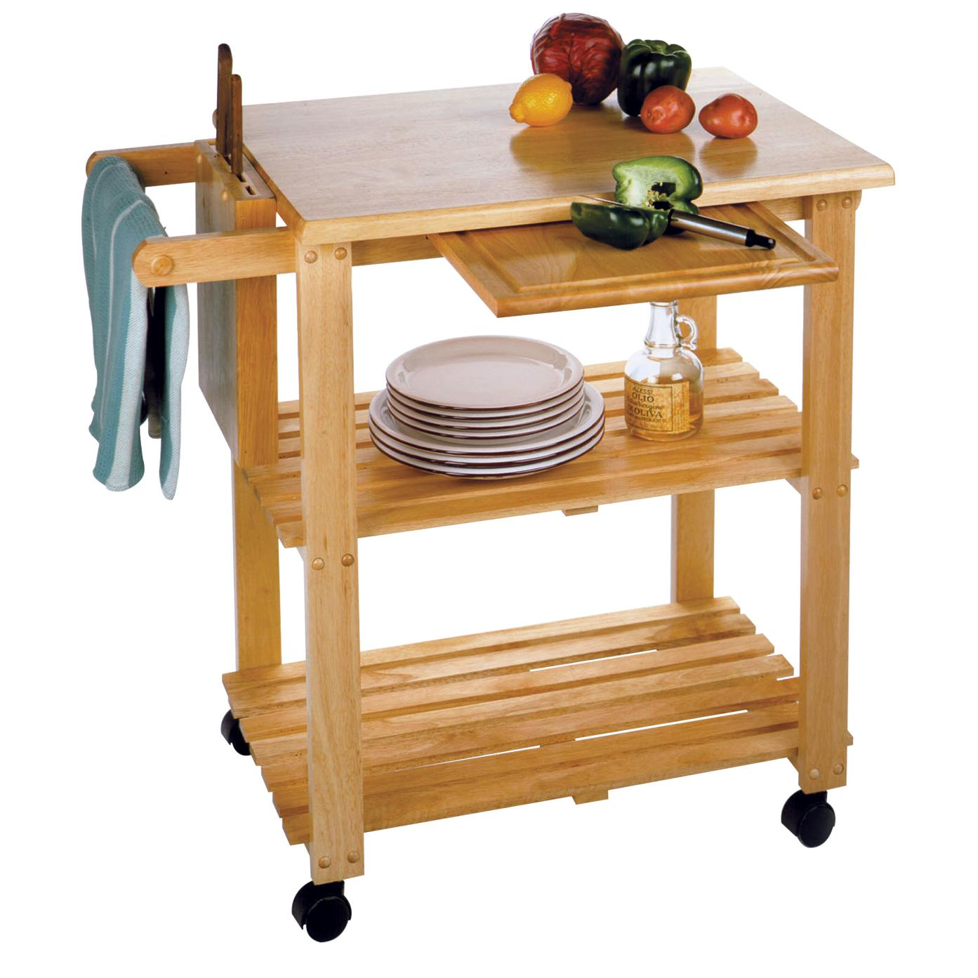 Amazon Winsome Wood Utility Cart Natural Kitchen Islands