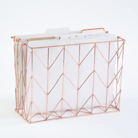 hanging file organizer, wall hanging file organizer, copper hanging file organizer