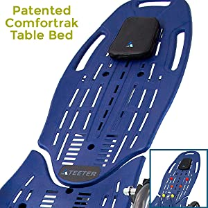 Patented ComforTrak Table Bed
