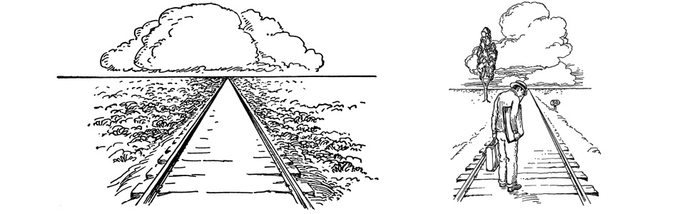 using perspective to illustrate distance