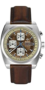 ... ZODIAC Watch, Sea Dragon,Swiss Made automatic movement, genuine leather strap, classic ...