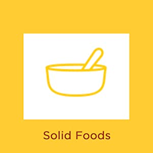 What causes diaper rash? Illustration of baby food bowl with words Solid Foods